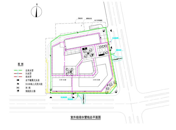 [江苏]海门邻里中心社区商业体规划设计文本-管线分布图