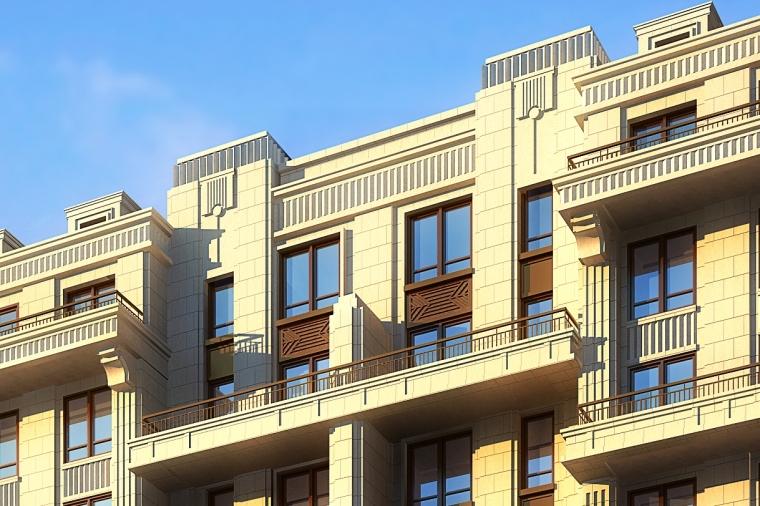 [北京]龙湖天璞新古典住宅建筑模型设计