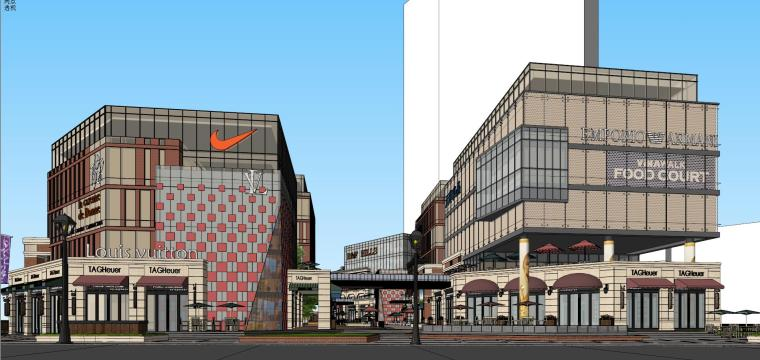[北京]现代风格商业街建筑模型设计-北京地铁上盖 商业街 现代 (6)