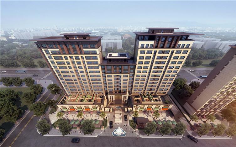 [北京]欧式风格金地华著豪宅建筑模型