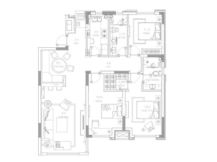 夏花似锦项目设计全套CAD施工图纸