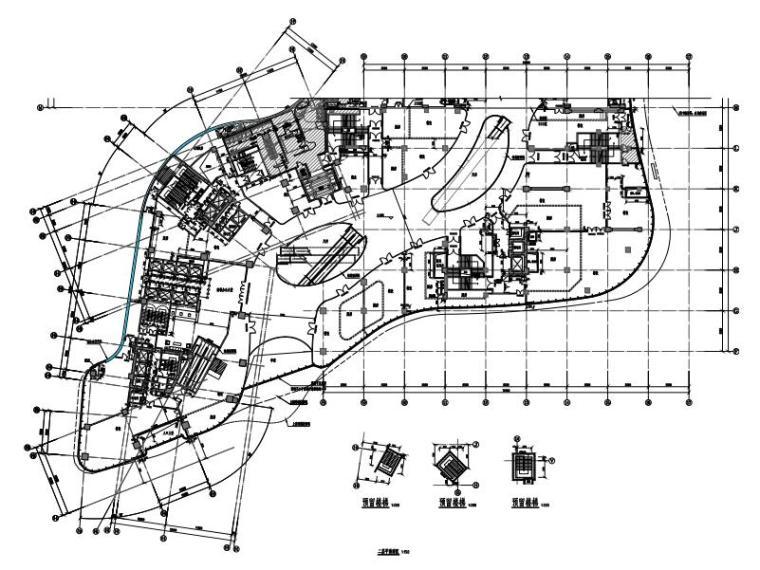 广州某商业广场塔楼建筑结构人防岩土施工图