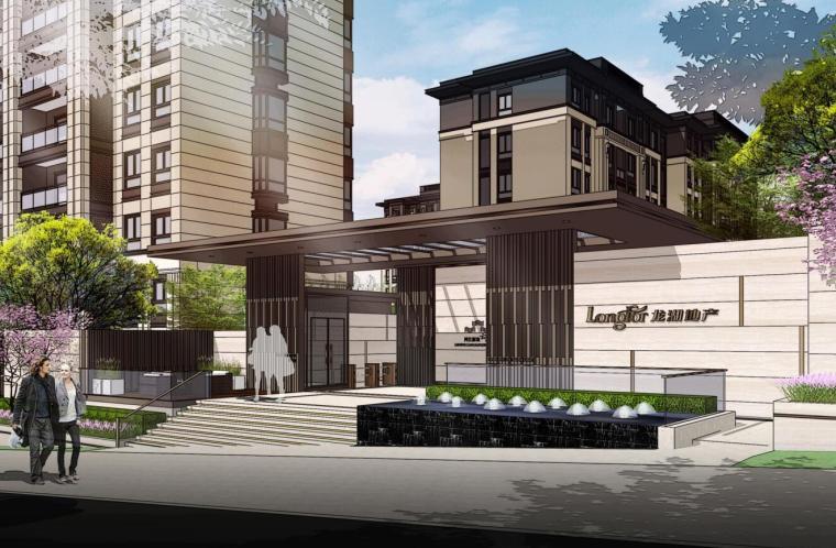 [重庆]新中式风格住宅区景观概念文本