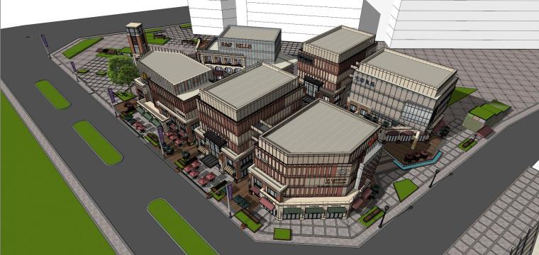 [北京]现代风格商业街建筑模型设计