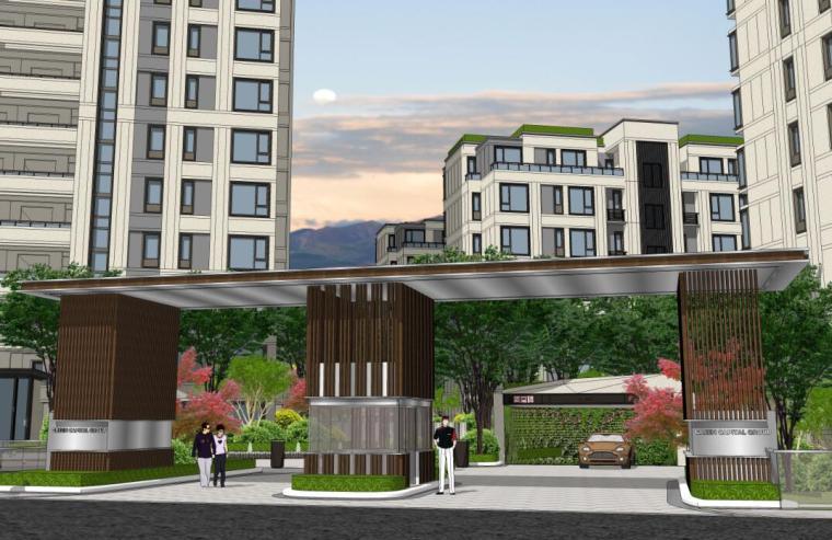 [浙江]新中式风格住宅区豪宅概念设计