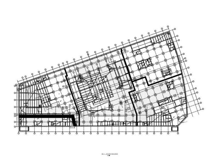 280m超高层框筒结构办公塔楼及裙房结构图纸