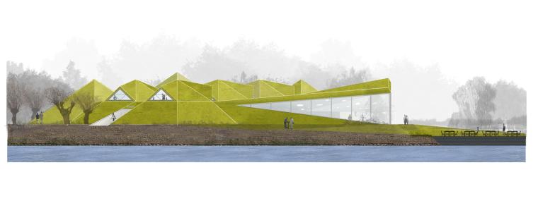 荷兰Biesbosch博物馆岛-elevation_(1)