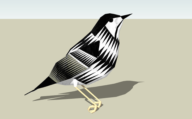 3D动物SU模型-3D动物模型-鸟(2)