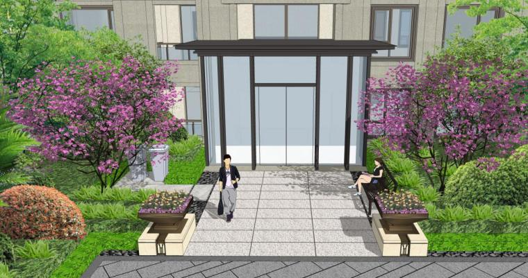 [浙江]新中式风格住宅区豪宅概念设计-高层入户方案一
