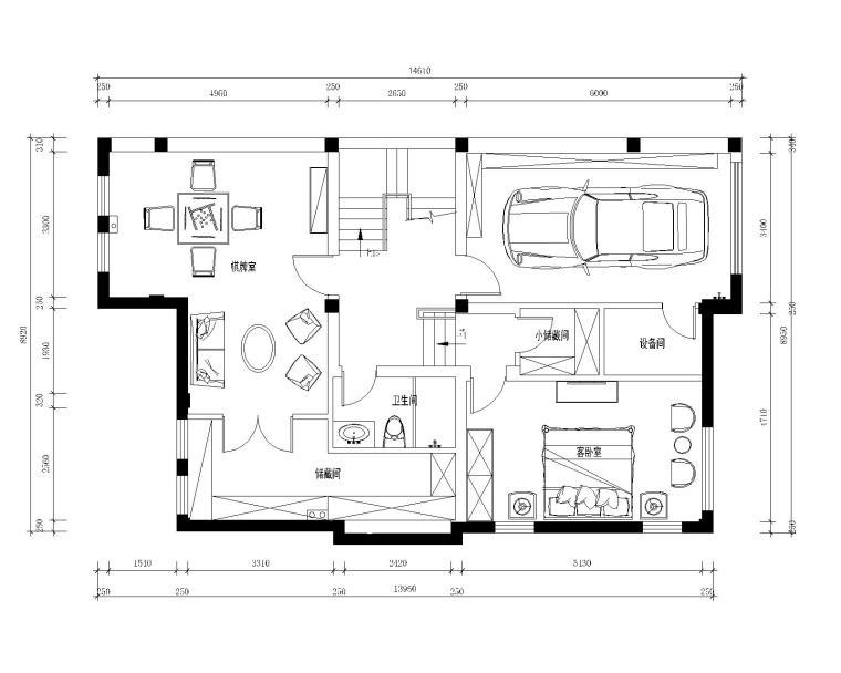 南京罗托鲁拉小镇五居室样板房装修施工图