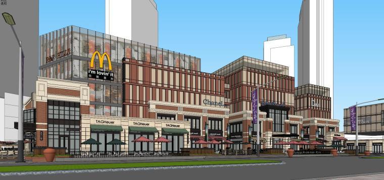 [北京]现代风格商业街建筑模型设计-北京地铁上盖 商业街 现代 (3)