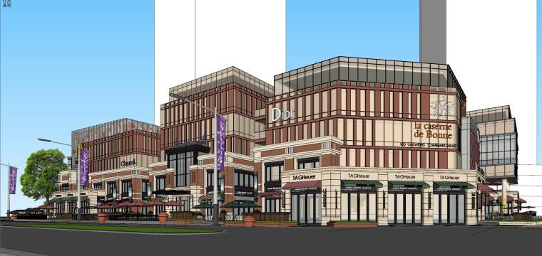 [北京]现代风格商业街建筑模型设计-北京地铁上盖 商业街 现代 (4)