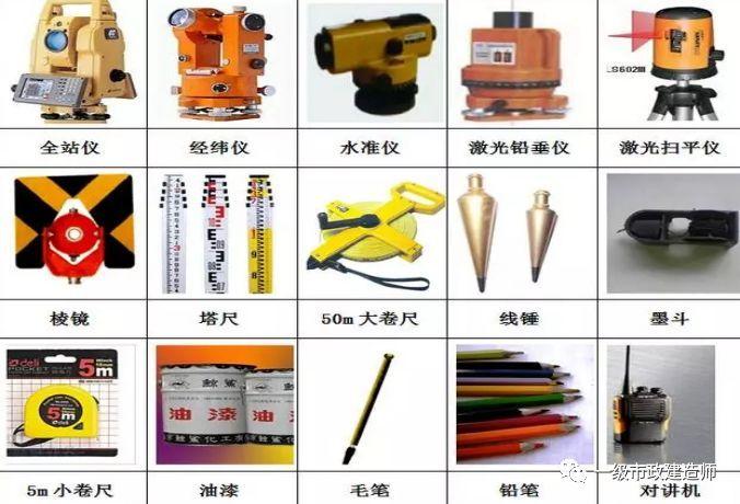 施工测量主要内容与常用仪器