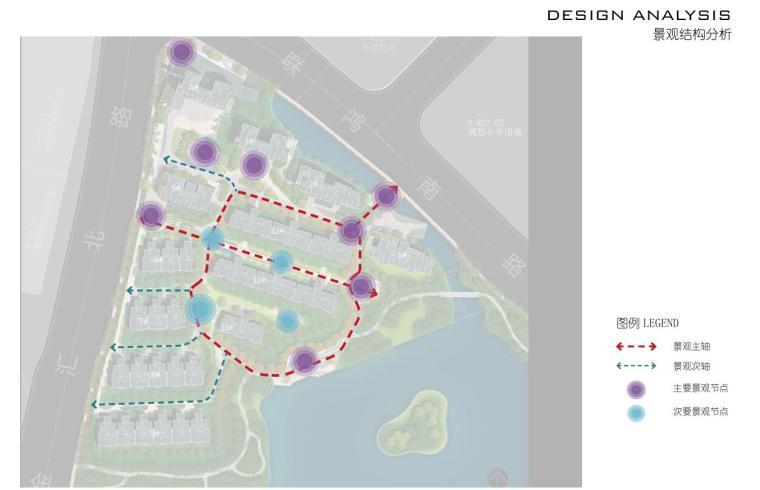 [浙江]新中式风格住宅区豪宅概念设计-景观结构分析