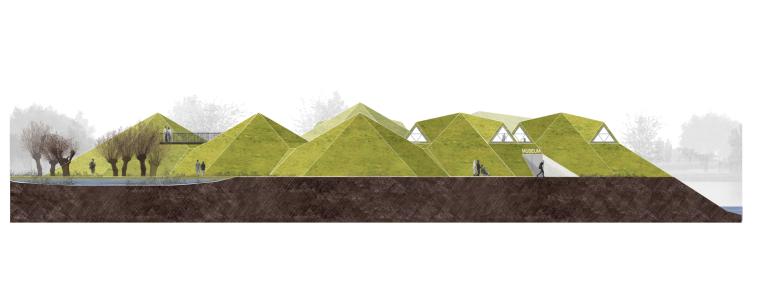 荷兰Biesbosch博物馆岛-elevation_(4)