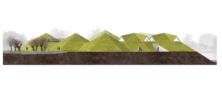 荷兰Biesbosch博物馆岛-elevation_(2)
