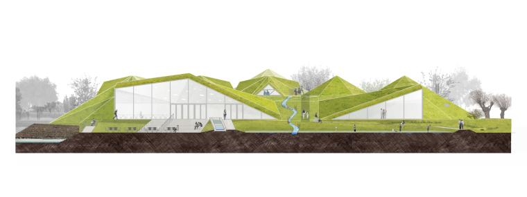 荷兰Biesbosch博物馆岛-elevation_(5)