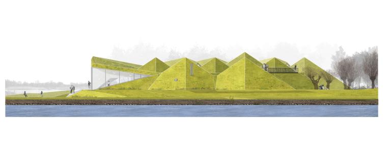 荷兰Biesbosch博物馆岛-elevation_(3)