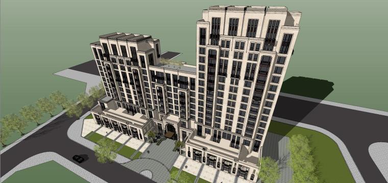 [北京]新古典&现代中式豪宅建筑模型
