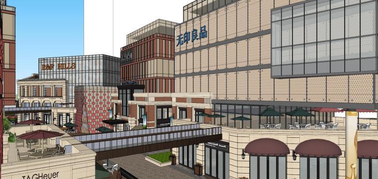 [北京]现代风格商业街建筑模型设计-北京地铁上盖 商业街 现代 (7)