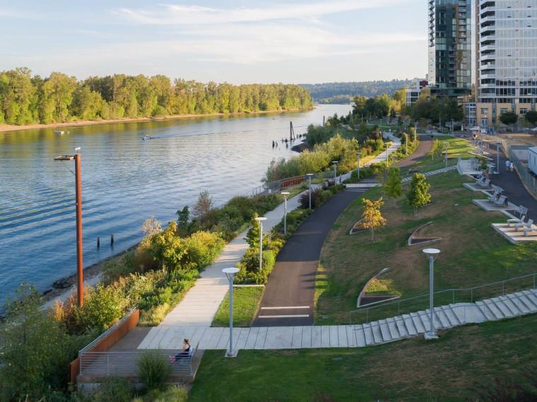 美国威拉米特河滨水绿道景观