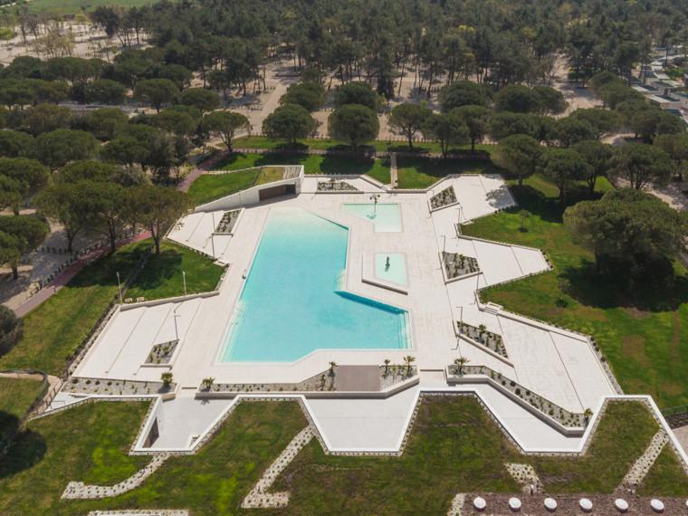 克罗地亚CampingStella露营游泳池和接待处