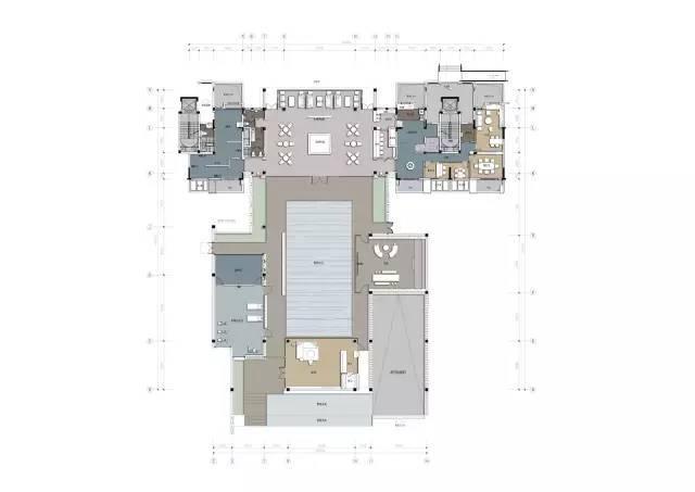 860㎡以中式合院的布局为灵感,打造东方_39