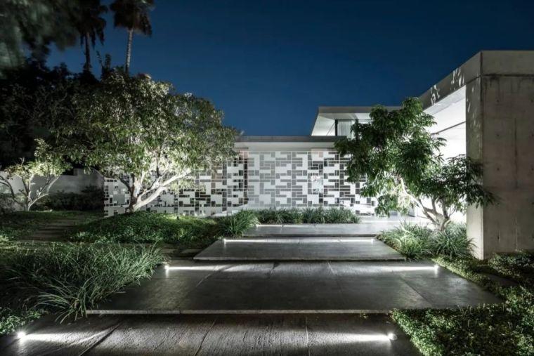 以色列镂空墙壁概念别墅