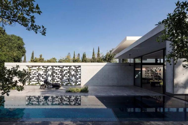 以色列镂空墙壁概念别墅_4