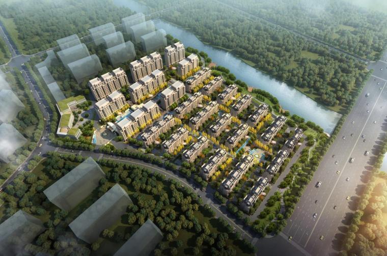 [江苏]新古典风格居住区建筑模型设计