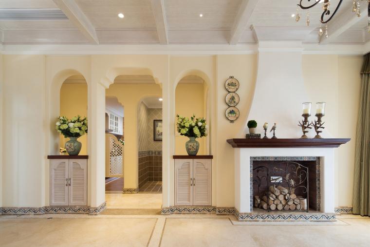 地知名地产风格三居室样板房室内装修全套施工图-35