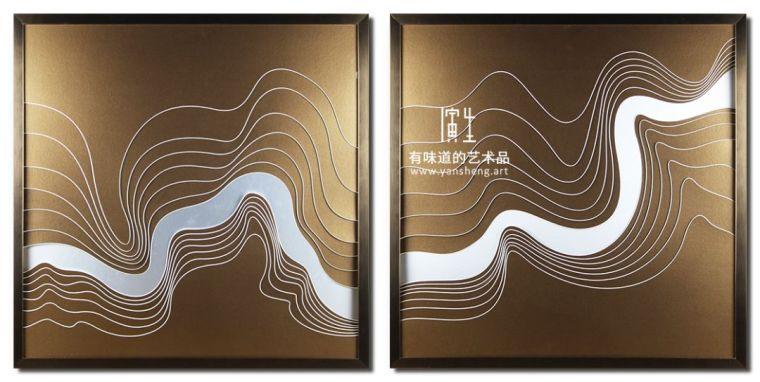 纸艺实物画室内设计艺术装饰画图片素材_2