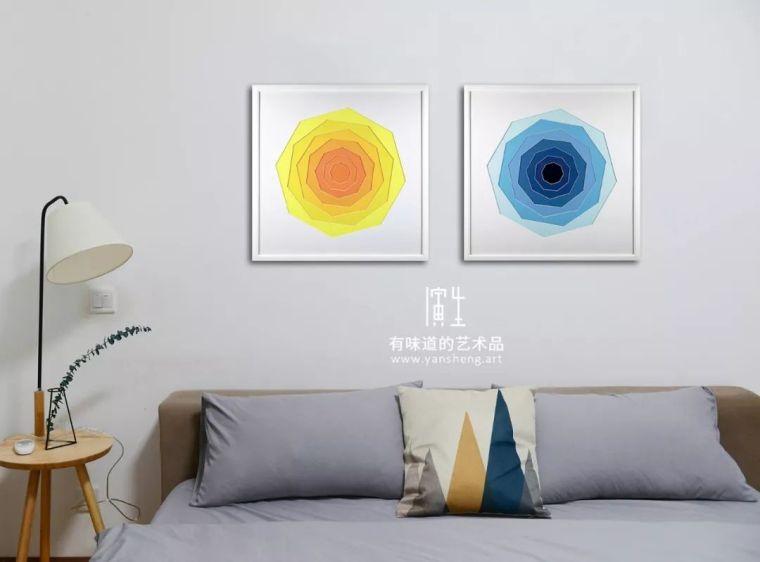 纸艺实物画室内设计艺术装饰画图片素材_3