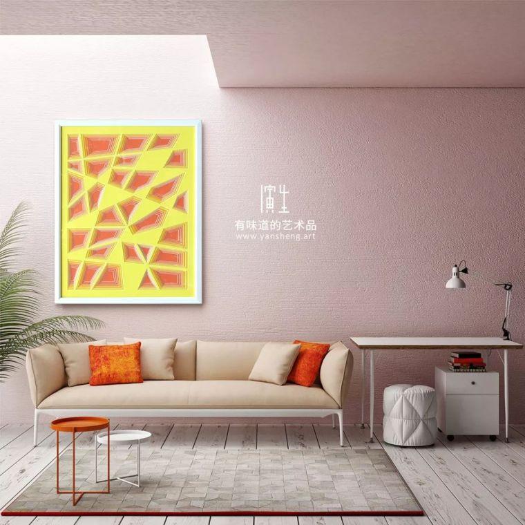 纸艺实物画室内设计艺术装饰画图片素材_5