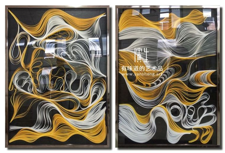 纸艺实物画室内设计艺术装饰画图片素材_11