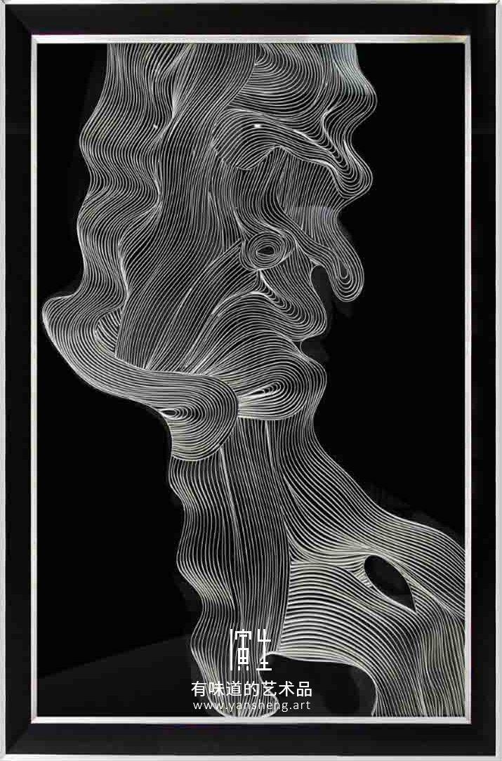 纸艺实物画室内设计艺术装饰画图片素材_15