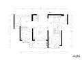 地中海风格三居室样板房室内装修全套施工图