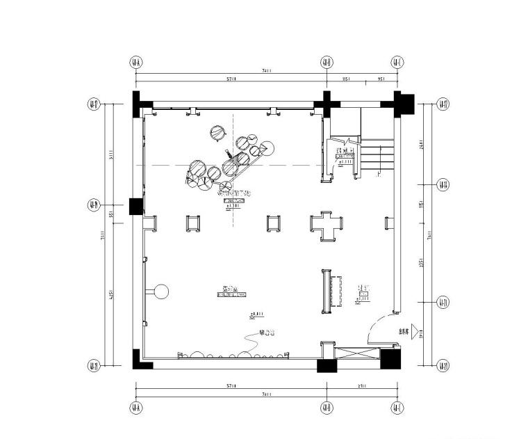 成都知名地产西子城335㎡四居室样板房施工图纸-负二层平面布置图_看图王