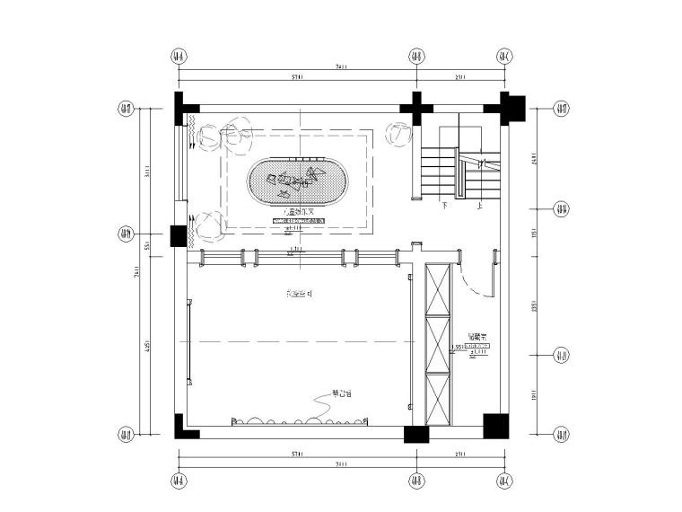 成都知名地产西子城335㎡四居室样板房施工图纸-负一层平面布置图_看图王