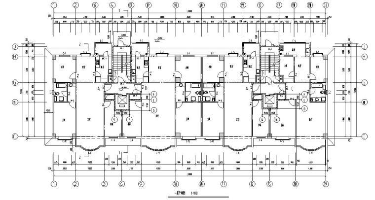 16层2单元每单元2户住宅楼设计图