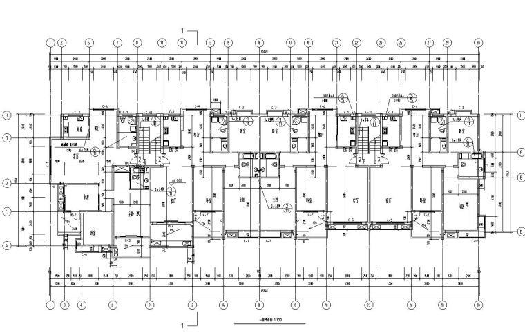 六层二单元阁楼3389平米一单元户型对称户型