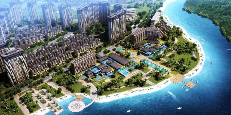 [海南]中式风格铂锐酒店建筑模型设计