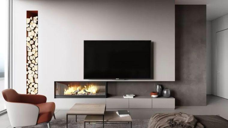 电视背景墙别空着,美观又实用的3种设计