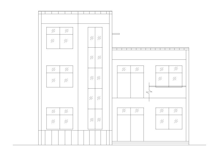 三层带露天平台住宅楼建筑施工图