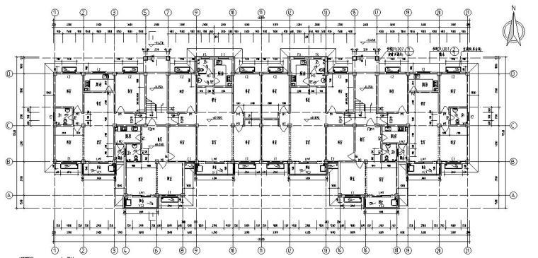 6层2单元每单元3户住宅楼设计图