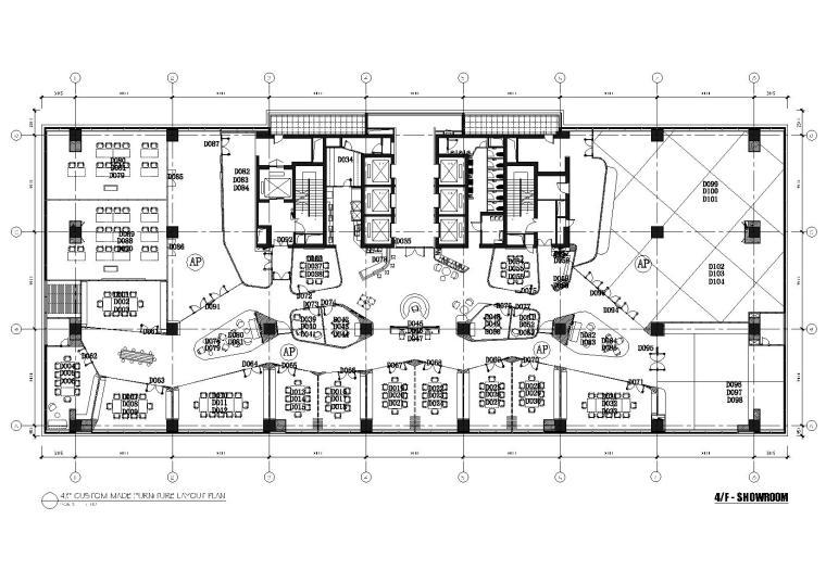 [上海]利丰广场办公室施工图+效果图+预算