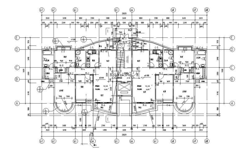 11层1楼梯1电梯住宅楼户型设计图