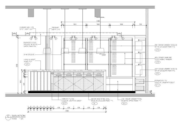 [上海]利丰广场办公室施工图+效果图+预算-立面图2
