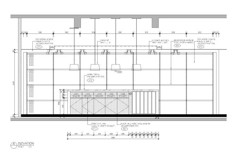 [上海]利丰广场办公室施工图+效果图+预算-立面图