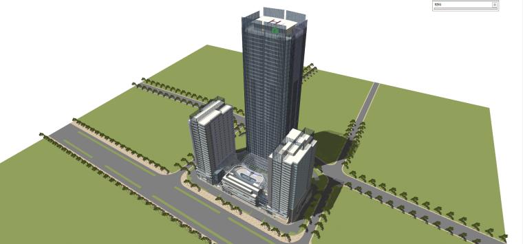 现代风格商业建筑模型设计-长沙知名地产中心 (2)